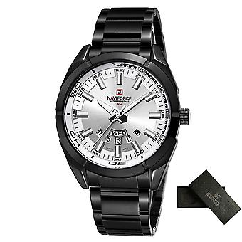 Men Business Stainless Steel, Waterproof, Date Quartz Wristwatches