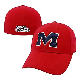 Ole Miss Rebels NCAA blår Red Premium Collection Memory Fit Hat
