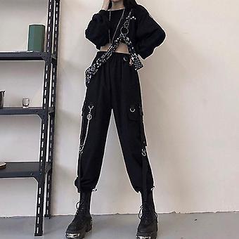 Kobiety High Waist Loose Streetwear Spodnie Hip Hop Wysokiej jakości Spodnie Joggers