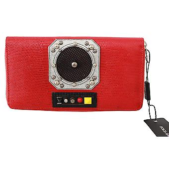 Red Zippered Continental 100% Leather  Clutch Wallet