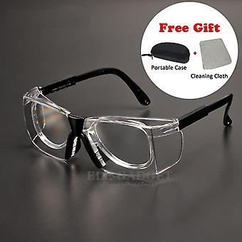 نظارات السلامة العمل المضادة لرذاذ الغبار الرياح واقية نظارات واقية عدسة بصرية