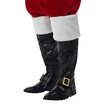 Smiffys 21419 unisex santa boot cover (en storlek)