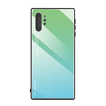 Unieke schokbestendige geharde glazen behuizing voor Samsung Galaxy S9 + / S9 Plus - Groen