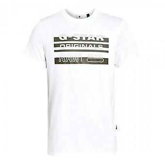 G-Star Raw Originals Stripe Logo T-Shirt White D19268 336