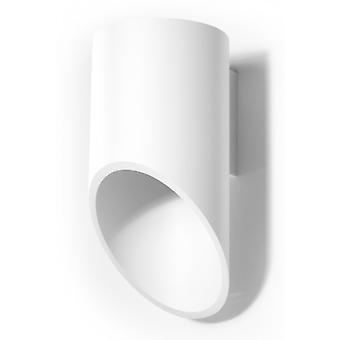 Penne White Aluminum Wall Light Height 20 Cm