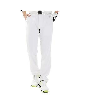 Мужчины носят тонкие брюки для гольфа, длинные тонкие прямые свободные брюки