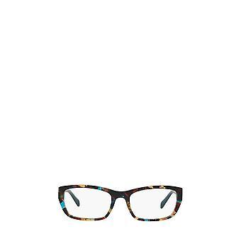 Prada PR 18OV havana manchado óculos femininos azuis