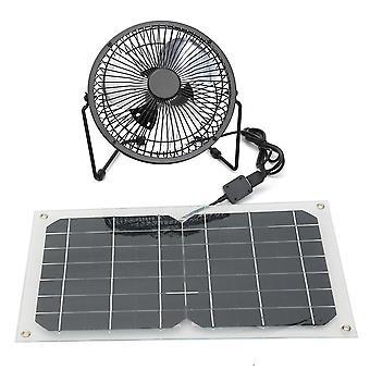 10W USB Solar Panel Powered Mini Fan Waterproof Portable Ventilation Hot Summer Cooling Fan