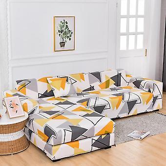 Négyzetes rácsos nyomtatott L alakú kanapéhuzatok ( 1. készlet)