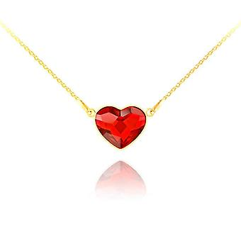 24K gold light siam heart necklace