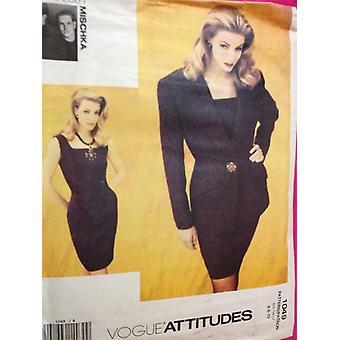 Vogue coser patrón 1049 señoras / señoritas chaqueta de vestir tamaño 6-10 sin cortar