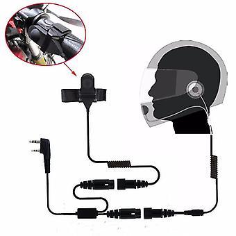 2pin Ptt Motorcycle Helmet Headset For Two Way Radio Walkie Talkie Uv-5r 82 5ra