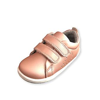 Bobux step up grass court rose gold trainer shoes