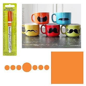 Decoart Orange Glas markör 1mm