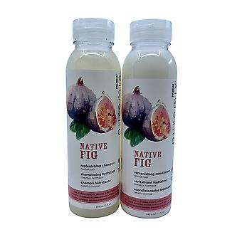 Rusk Pure Mix Native Fig Replenishing Shampoo & Conditioner Set 12 OZ Each