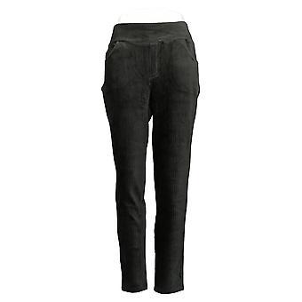 Pantaloni in denim & co. donna Leggings in vita liscia Nero A388785