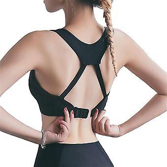 Les femmes poussent vers le haut de remise en forme tops gymnastique femelle exécutant soutien-gorge d'entraînement de soutien-gorge de vêtement