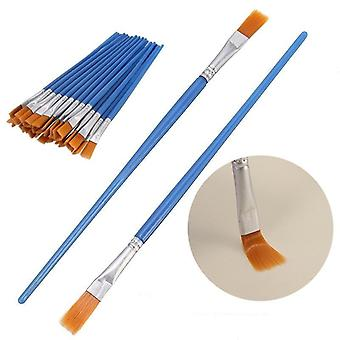 Nylon Hair Flat Paint Brushes Set