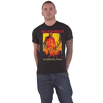 Iron Maiden T Shirt The Wicker Man brand bandlogo nieuwe officiële Mens zwart