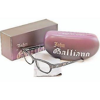John Galliano Eyeglasses Frame JG5003 005 Plastic Black Over Newspaper Italy