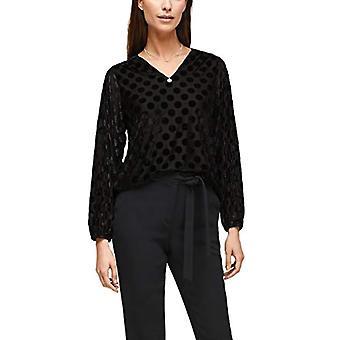 s.Oliver BLACK LABEL 150.10.011.12.130.2058946 T-Shirt, Black Velvet Polka Dots, 48 Woman