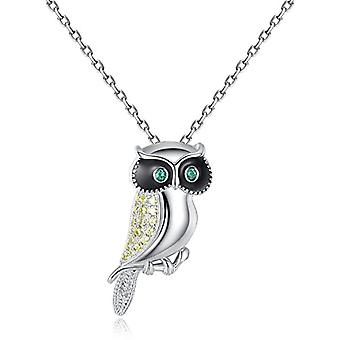 Owl sterling 925 silver necklace with inspirational zircons gifts for women - Gemshadow