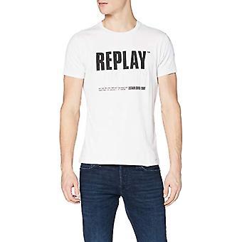 REPLAY M3413 T-Shirt, 001 White, L Man