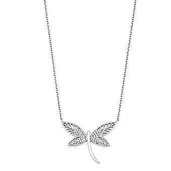 amor Necklace with women's pendant, in sterling silver 925, with zircons and butterfly