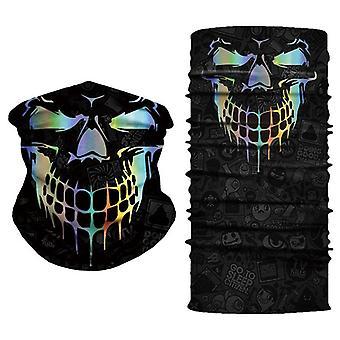 Çok fonksiyonlu güneş maskesi kafatası desen bisiklet maskesi eşarp