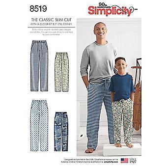 Simplicité Couture Modèles 8519 Homme Garçons Pantalon Sleepwear Taille A (S - L/XS- XL)