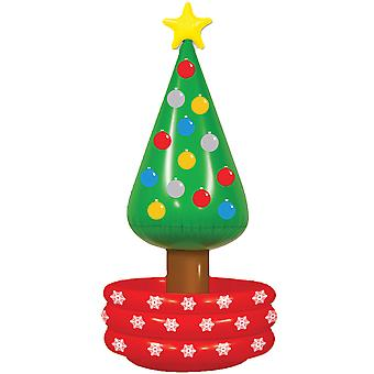 Christmas Tree Beach Party Costume Inflatable Beer Drinks Ice Cooler