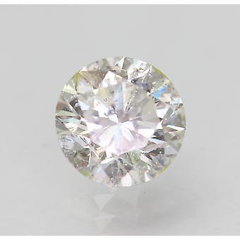 Sertifioitu 0,93 karat G VS2 pyöreä brilliant parannettu luonnollinen löysä timantti 6,12mm