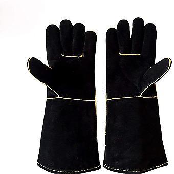 Schweißhandschuhe, hitzebeständige feuerfeste Handschuhe, Kaminhandschuhe für Holzofen,