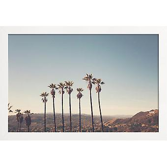 JUNIQE Print - Hollywood Hills - Los Angeles Plakat i Blue &Brown