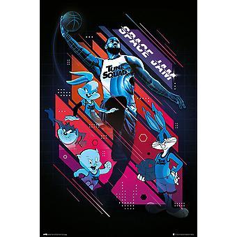 Space Jam 2 Poster Tune Squad LeBron James & Looney Tunes 91,5 x 61 cm