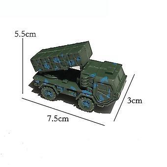 New 4pcs World War 2 Army Vehicle Toyset Missle Truck Battlefield Figures ES12767