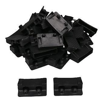 For 30pcs svart plast seng slat sluttholdere seng erstatning deler 73x14mm WS314