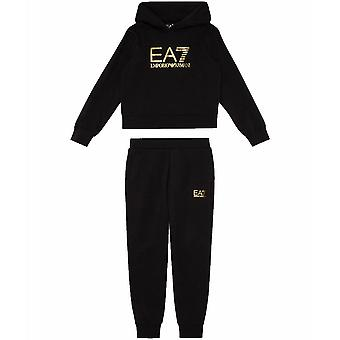 EA7 Girls Stretch Cotton Tracksuit