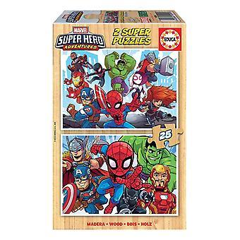 Puzzle Marvel Süper Kahraman Maceraları Educa Wood (48 adet)