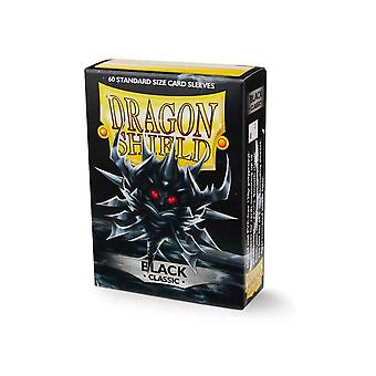 Dragon Shield Japanese Size Classic Black Card Sleeves - 60 Sleeves