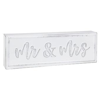 Homestyle Standing Metal Plaque Mr & Mrs