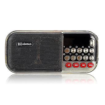 Hordozható FM 87.5-108MHZ 85dB Rádió MP3 lejátszó sztereó hangszóró
