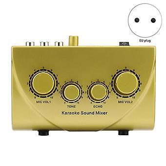 Máquina de áudio, mixer sound echo, dispositivos do sistema digital, console de microfone