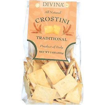Divina Crostini Traditional, Case of 12 X 7 Oz