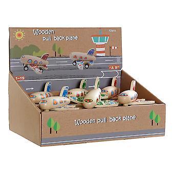 Wooden Game DKD Home Decor Aeroplane (3 pcs)