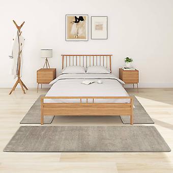 vidaXL high pile bed mat 3 pcs. grey