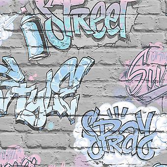 Ugepa Street Style Grey Wallpaper L17906