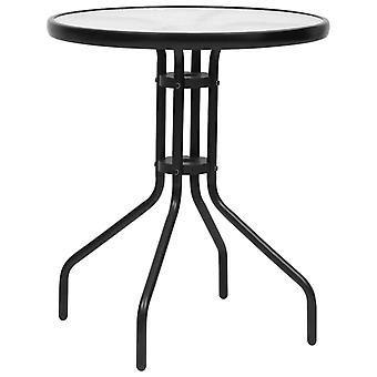 vidaXL Puutarhapöytä Musta Ø60x70 cm Teräs