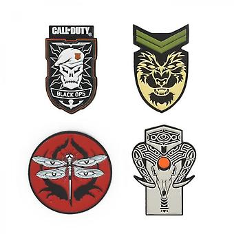 Set De 4 Pins Call Of Duty Black Ops 4 Badge