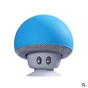 Cartoon Mushroom Head wireless Bluetooth Speaker Suction Cup Phone Holder Portable Outdoor